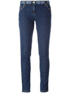 джинсы кроя слим с принтом на поясе Kenzo