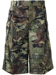 камуфляжные шорты бермуды Givenchy