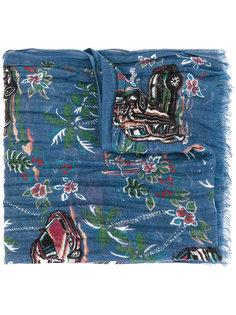 шарф с принтом Saint Laurent