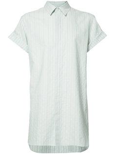 удлиненная рубашка в полоску Ann Demeulemeester Grise