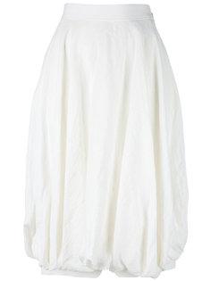 юбка миди с присборенной отделкой Loewe