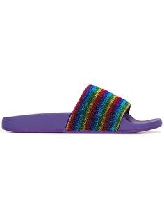полосатые сандалии Marc Jacobs
