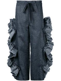 брюки с отделкой оборками Roberts Wood