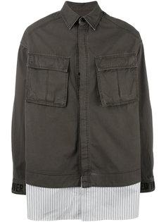 куртка в стиле милитари с контрастным подолом Juun.J