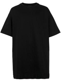 футболка с вышивкой на подоле Juun.J