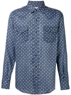 рубашка Western с узором  Saint Laurent