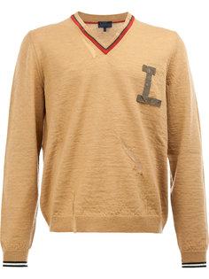 вязаный свитер с логотипом на груди Lanvin