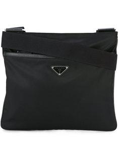 сумка-мессенджер с застежкой на молнию Prada