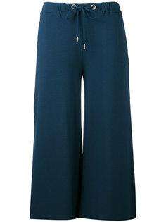 брюки-палаццо со шнурком на поясе Fay