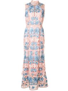 платье с цветочным узором Marchesa Notte