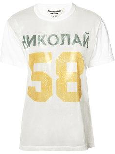 футболка с пайетками и принтом 58  Junya Watanabe Comme Des Garçons