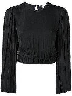 укороченная блузка с плиссированными рукавами Elizabeth And James