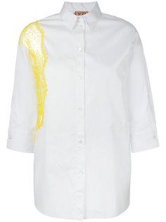 рубашка с кружевной вставкой Nº21