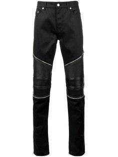 байкерские джинсы скинни Saint Laurent