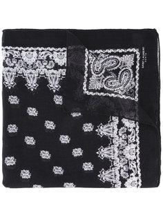 платок с принтом Saint Laurent