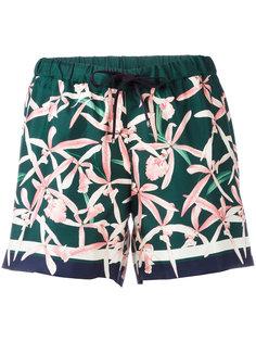 шорты с цветочным узором Moncler