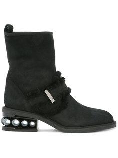 байкерские ботинки Casati с жемчужинами Nicholas Kirkwood
