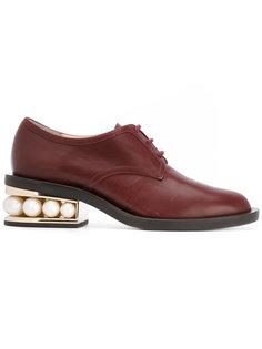 ботинки-дерби Casati с жемчужинами Nicholas Kirkwood