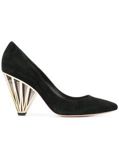 туфли с геометрическим декором на каблуке Nicholas Kirkwood