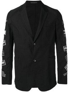 пиджак с нашивками на рукавах  Yohji Yamamoto