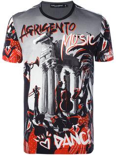 футболка с музыкальным принтом Dolce & Gabbana