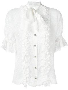 блузка в горох с оборками Dolce & Gabbana