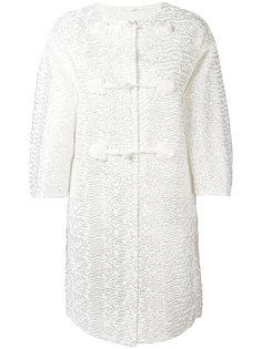 пальто с прозрачными рукавами Ermanno Scervino