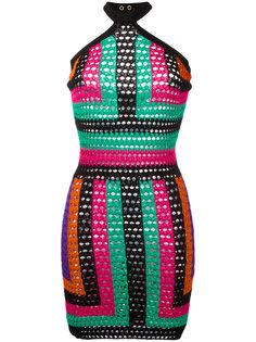 платье с геометрическим узором Balmain