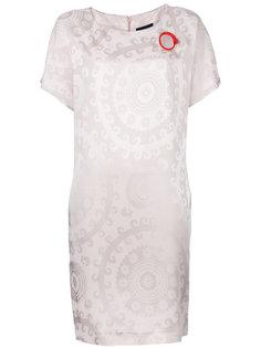 платье-шифт с люверсом Cavalli Class