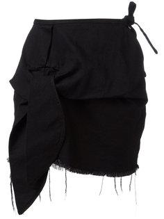 асимметричная юбка с бахромой Marquesalmeida