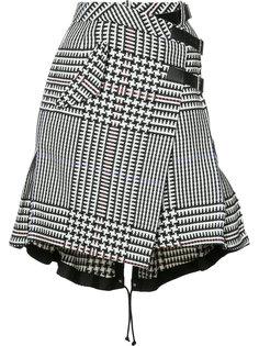 юбка в ломаную клетку Sacai