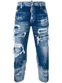 """джинсы Tomboy дизайна """"пэчворк""""  Dsquared2"""