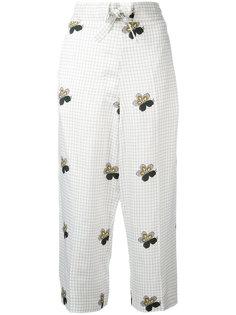 укороченные брюки в клетку Victoria Beckham