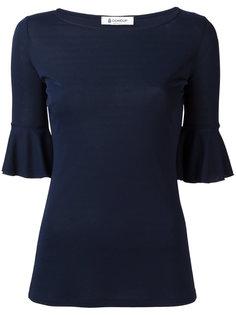 блузка с отделкой в складку Dondup