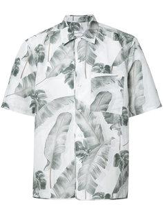 рубашка с принтом перьев Oamc