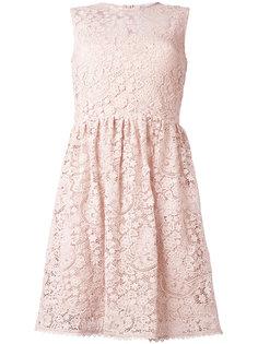 расклешенное платье с вышивкой макраме Red Valentino