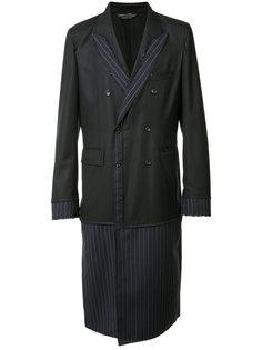 пальто в тонкую полоску Comme Des Garçons Homme Plus