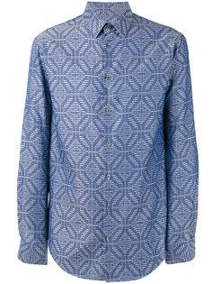 рубашка с комбинированным узором Giorgio Armani