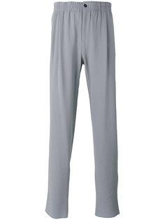 креповые брюки средней посадки Giorgio Armani