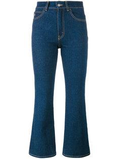 расклешенные укороченные расклешенные джинсы Attico
