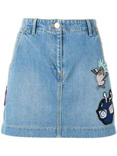 юбка с вышивкой Kenzo