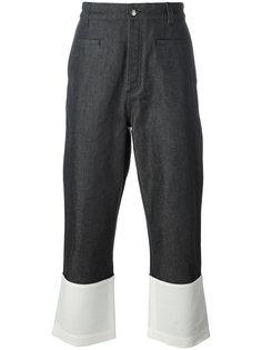 широкие джинсы с контрастной полоской Loewe