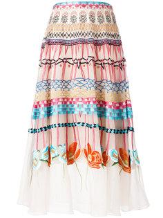 плиссированная юбка с комбинированным узором Temperley London