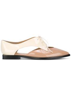 туфли с вырезными деталями Emporio Armani