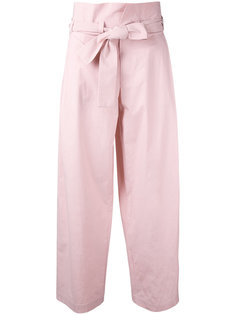 брюки с завышенной талией и поясом Erika Cavallini