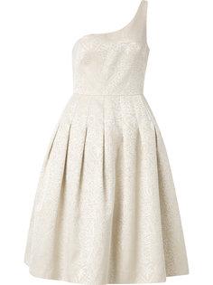 one shoulder jacquard Rogeria dress Martha Medeiros