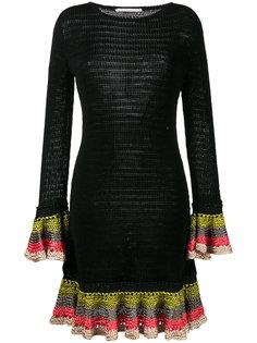 вязаное платье с оборками на манжетах Marco De Vincenzo