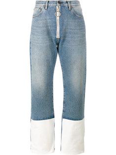 джинсы с контрастными манжетами Off-White