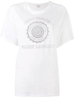 футболка с принтом College Saint Laurent