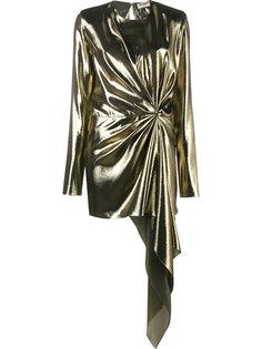 асимметричное драпированное платье Saint Laurent